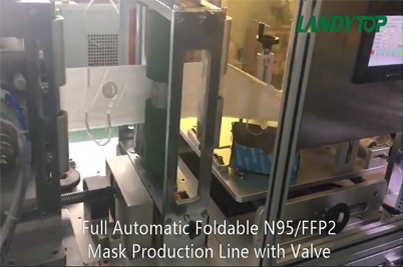 Full Automatic Foldable N95/FFP2 Mask Production Line with Valve