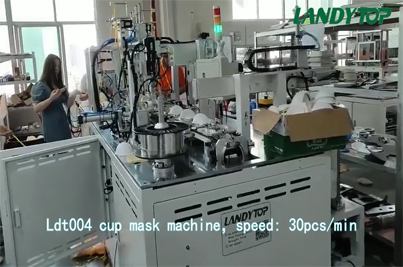 Full Automatic Cup Type Mask Production Line LT004